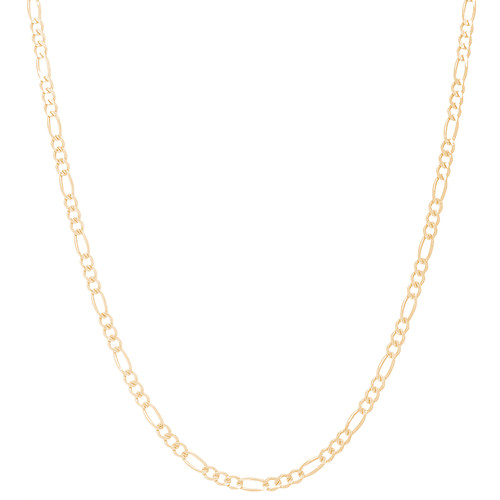 """2.5mm Solid Yellow Gold Figaro Chain - 16"""", 18"""", 20"""", 22"""", 24"""""""