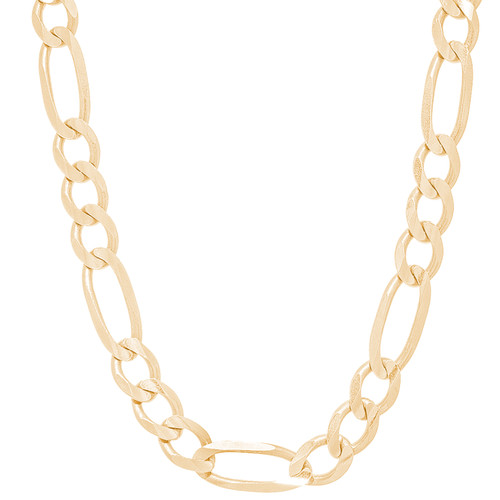 """8mm Solid Yellow Gold Figaro Chain - 24"""""""