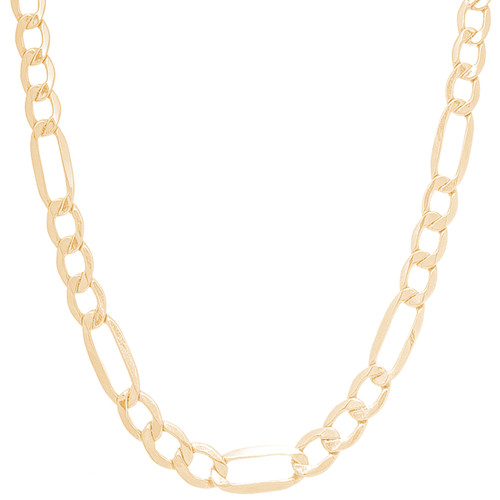 """7mm Hollow Yellow Gold Figaro Chain -  24"""""""