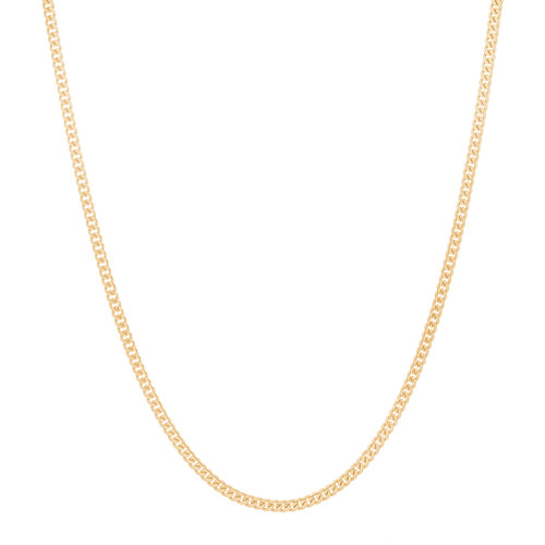 "2.6mm Solid Miami Cuban Link Chain - 20"", 24"" (SMCUBN-100)"