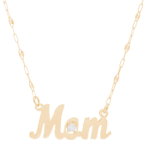Birthstone Mom Pendant & Chain Set - 14K - JST433