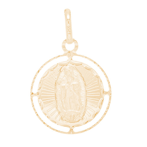 Yellow Gold Pendant  - Virgin Mary - 14 K - RPVG-172