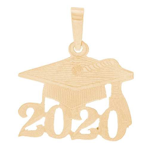 Yellow Gold Graduation Charm - 14 K - GRCH-170
