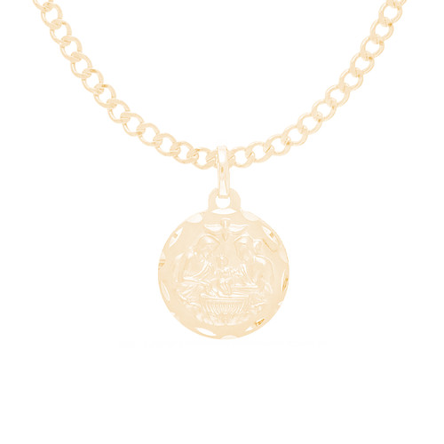 "14K Gold  Baptism Set - 18"" Chain & Pendant - BTZ-SET3"