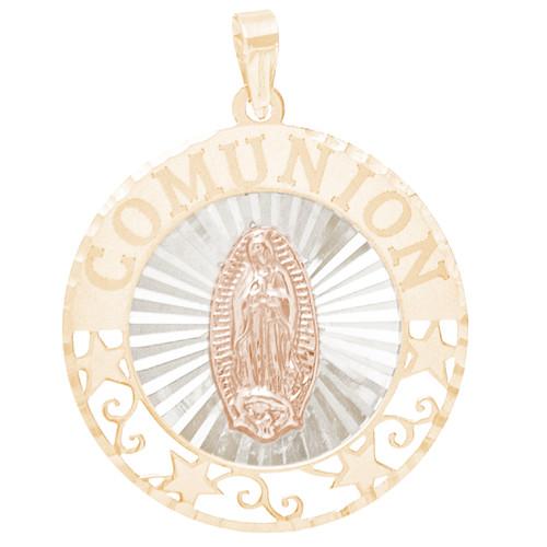 First Communion Gold Pendant - Virgin Mary - 14 K - CMP11V