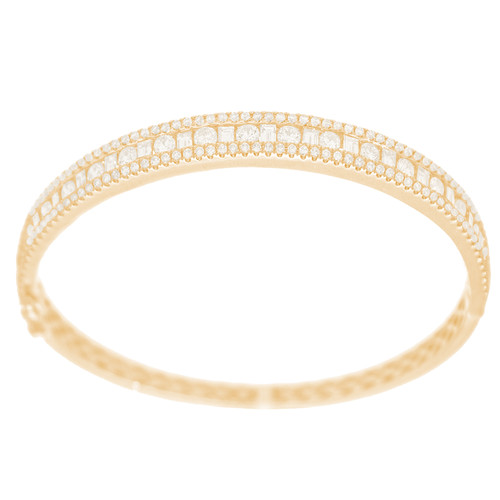 Yellow Gold Bracelet with Diamonds - 7 in. - 18K - 3.25 Ct - CLR108