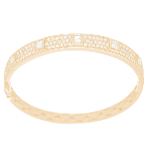 Yellow Gold Bracelet with Diamonds - 7 in. - 18K - 2.79 Ct - CLR110