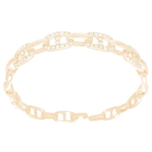 Yellow Gold Bracelet with Diamonds - 7 in. - 18K - VS 2 Ct - CLR111