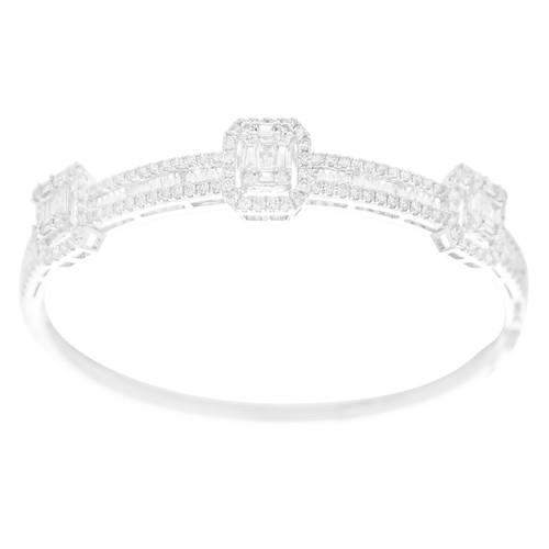 White Gold Bracelet with Diamonds - 7 in. - 18K - 1.77 Ct - CLR112