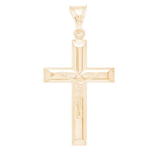 Yellow Gold Cross Pendant - 14 K - PTC236