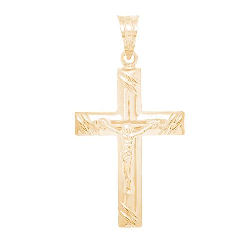 Yellow Gold Cross Pendant - 14 K - PTC237