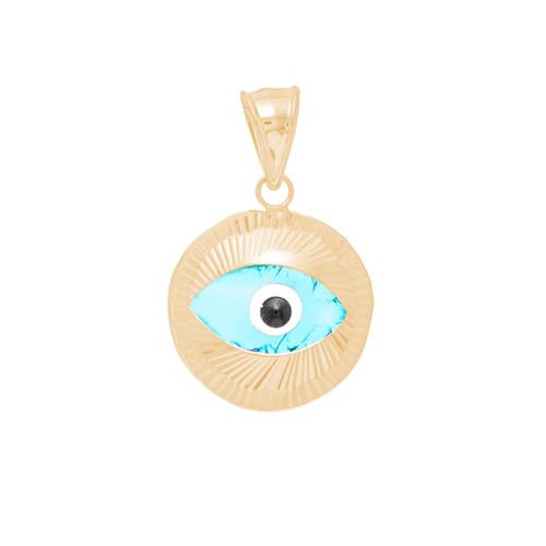Yellow Gold Evil Eye Pendant - 14 K - WEJ101