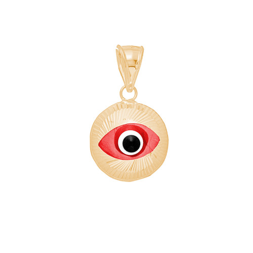 Yellow Gold Evil Eye Pendant - 14 K - WEJ102