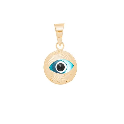 Yellow Gold Evil Eye Pendant - 14 K - WEJ103