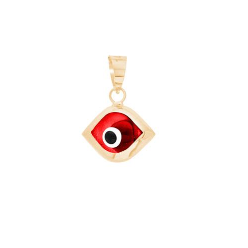 Yellow Gold Evil Eye Pendant - 14 K - WEJ104