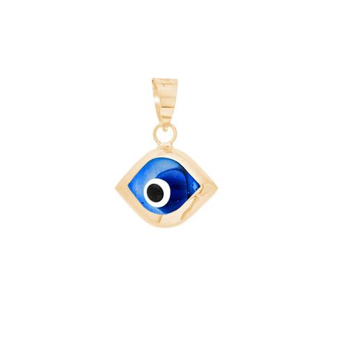Yellow Gold Evil Eye Pendant - 14 K - WEJ105