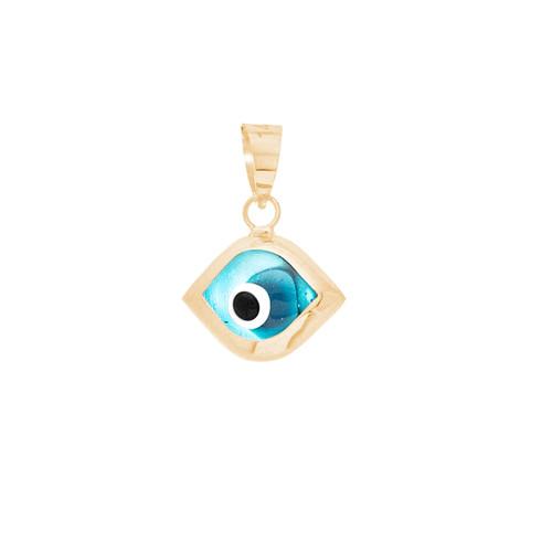 Yellow Gold Evil Eye Pendant - 14 K - WEJ106