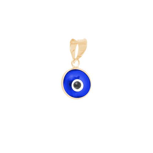 Yellow Gold Evil Eye Pendant - 14 K - WEJ107