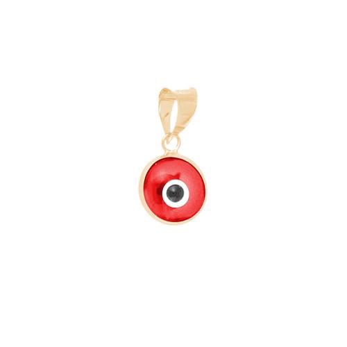 Yellow Gold Evil Eye Pendant - 14 K - WEJ108