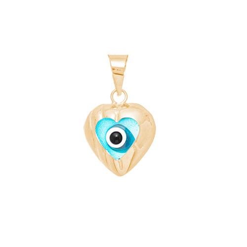 Yellow Gold Evil Eye Pendant - 14 K - WEJ109