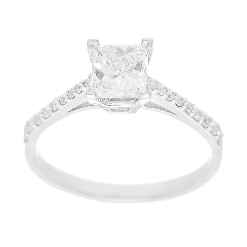 White Gold Diamond Engagement Ring - ERNG-20