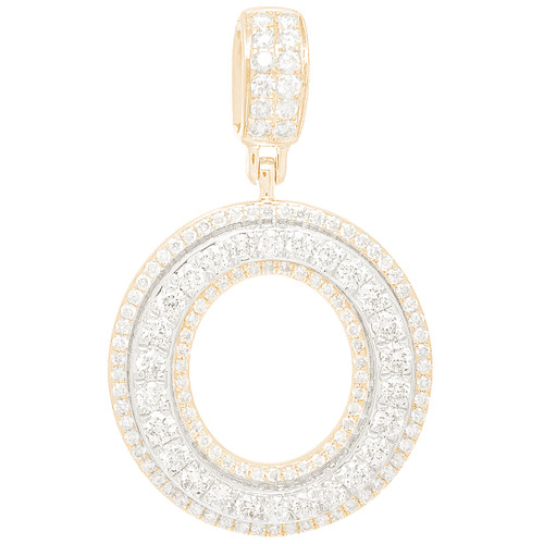 """14kt yellow and white gold diamond """"O"""" initial  - DINT-09"""