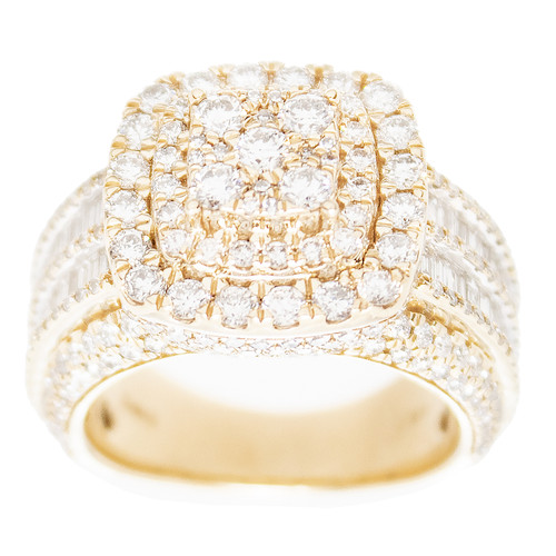 Yellow Gold Men's Diamond Ring - MRG01