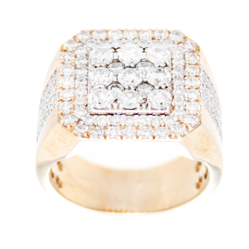Yellow Gold Men's Diamond Ring - MRG03