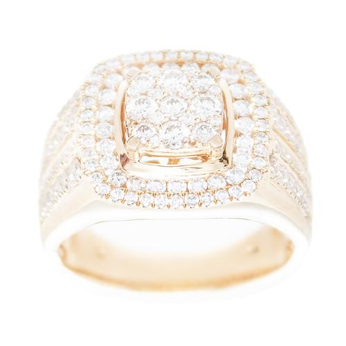 Yellow Gold Men's Diamond Ring - MRG04