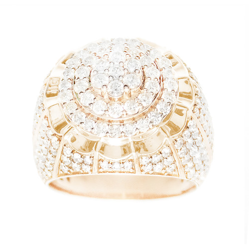Yellow Gold Men's Diamond Ring - MRG05