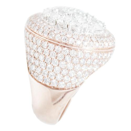 Rose and White Gold Men's Diamond Ring - MRG06