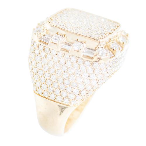 Yellow Gold Men's Diamond Ring - MRG07