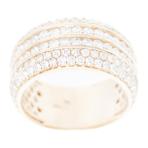 Yellow Gold Men's Diamond Ring - MRG08