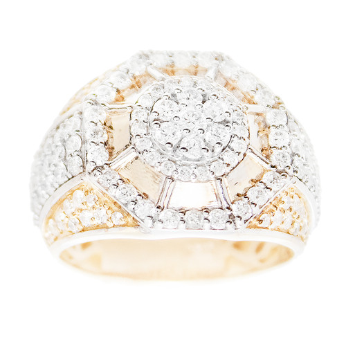 Yellow Gold Men's Diamond Ring - MRG10