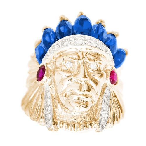 Yellow Gold Men's Diamond Ring - MRG11