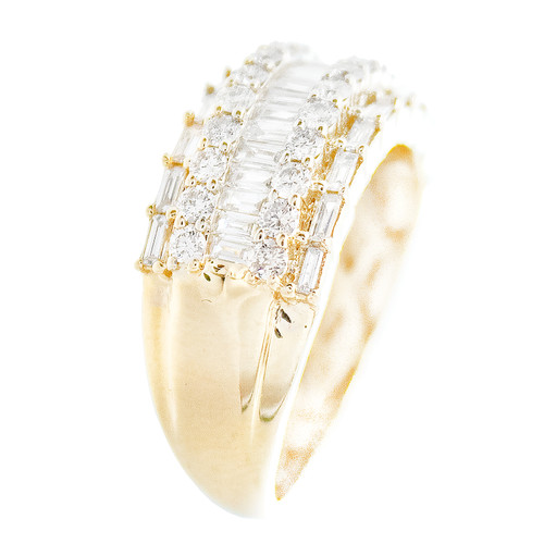 Yellow Gold Men's Diamond Ring - MRG12