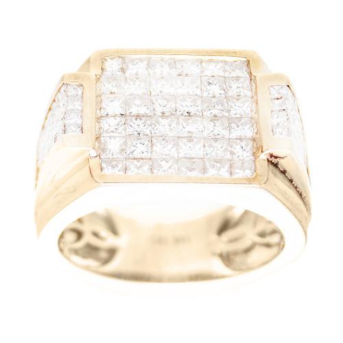 Yellow Gold Men's Diamond Ring - MRG13