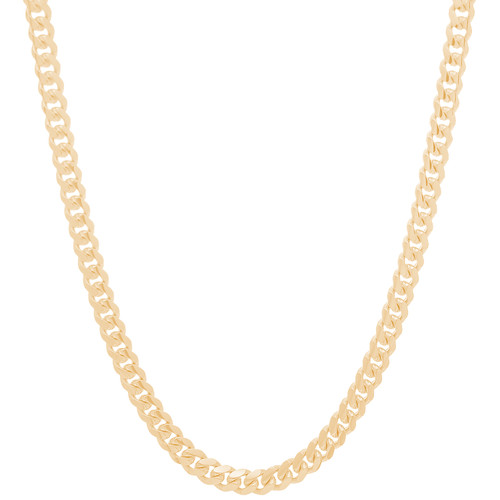 6mm Solid Miami Cuban Link Chain - 24""