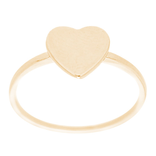 14kt Signet Initial Heart Ring - RG2772