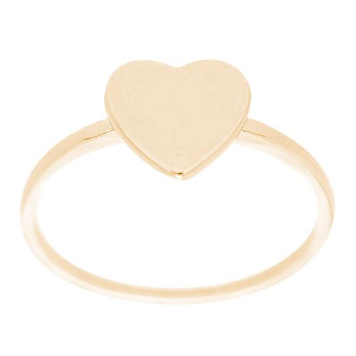 14kt Signet Initial Heart Ring - RG2772