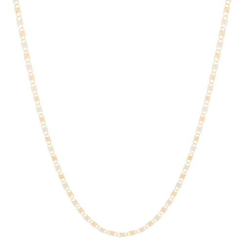 "10kt 1.5mm Tri-Color Valentino Chain - 20"", 22"" - CH08V"
