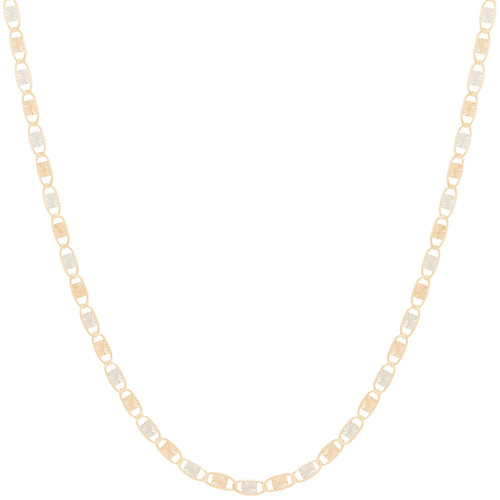 "10kt 2.6mm Tri-Color Valentino Chain - 18"" - CH10V18"