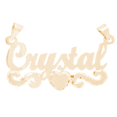 14kt Custom Nameplate With Heart Design - NMP201