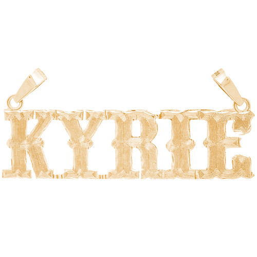 14kt Custom Nameplate With Western Font  - NMP204