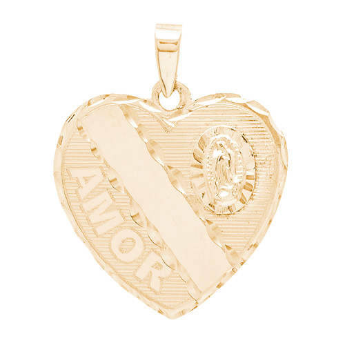 14kt Personalized Love Pendant  - 14K - HRT-C