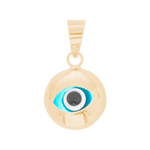 Yellow Gold Evil Eye Pendant  - CZ - 14 K - WEJ128