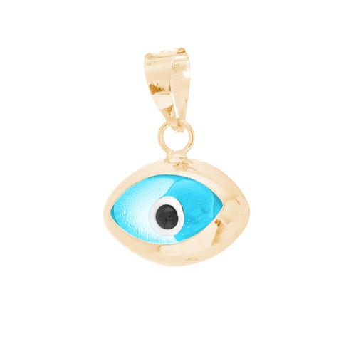 Yellow Gold Evil Eye Pendant  - CZ - 14 K - WEJ132