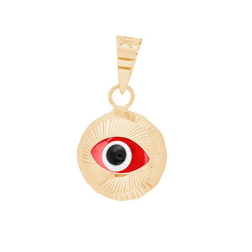 Yellow Gold Evil Eye Pendant - 14 K - WEJ136