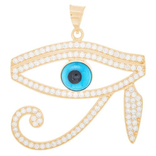 Yellow Gold Evil Eye Pendant - 14 K - WEJ140