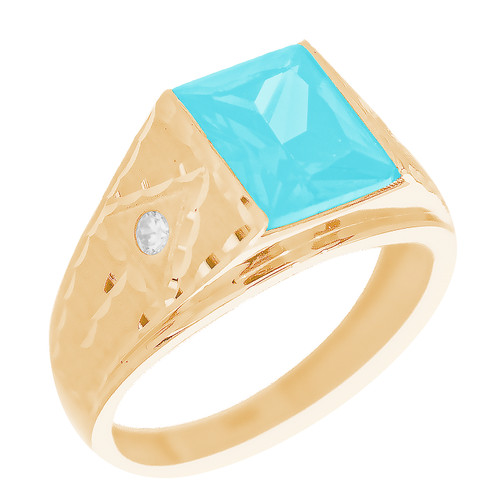 Yellow Gold 3 Stone Ring - CZ - 14 K - RNG-TPCZ3